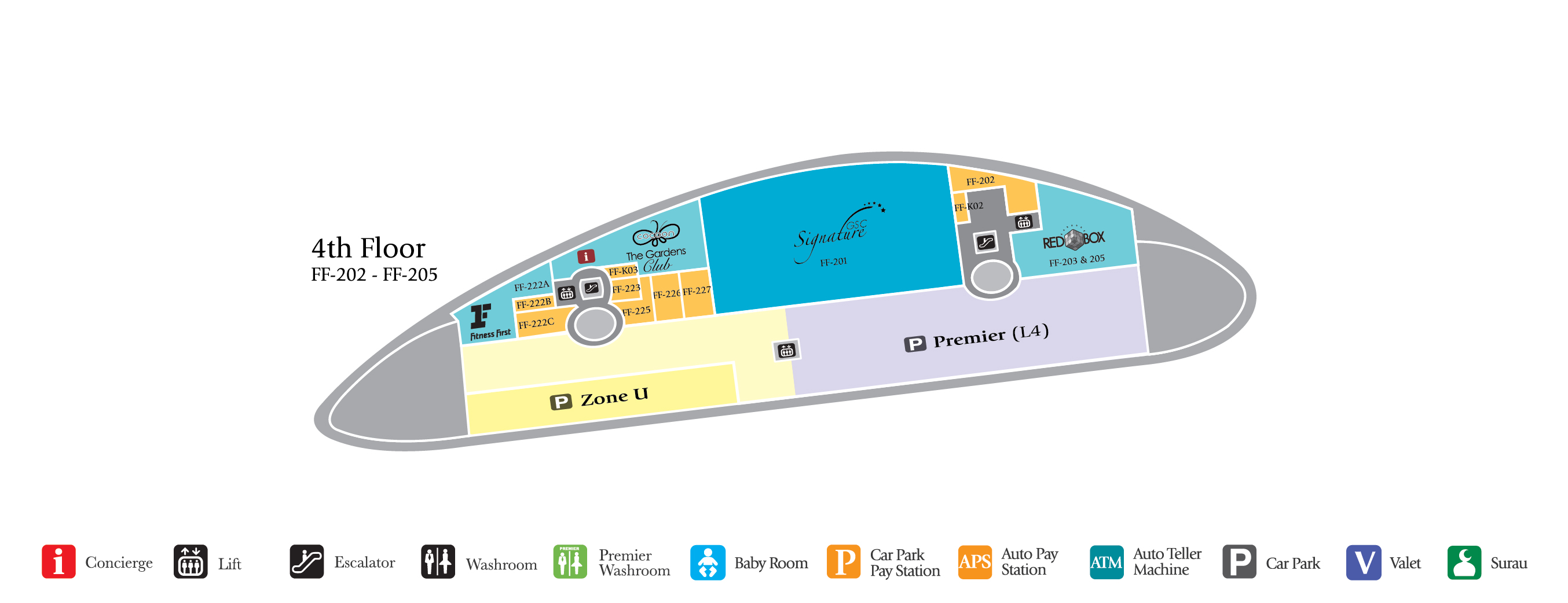 The Gardens Mall Floor Plan 6