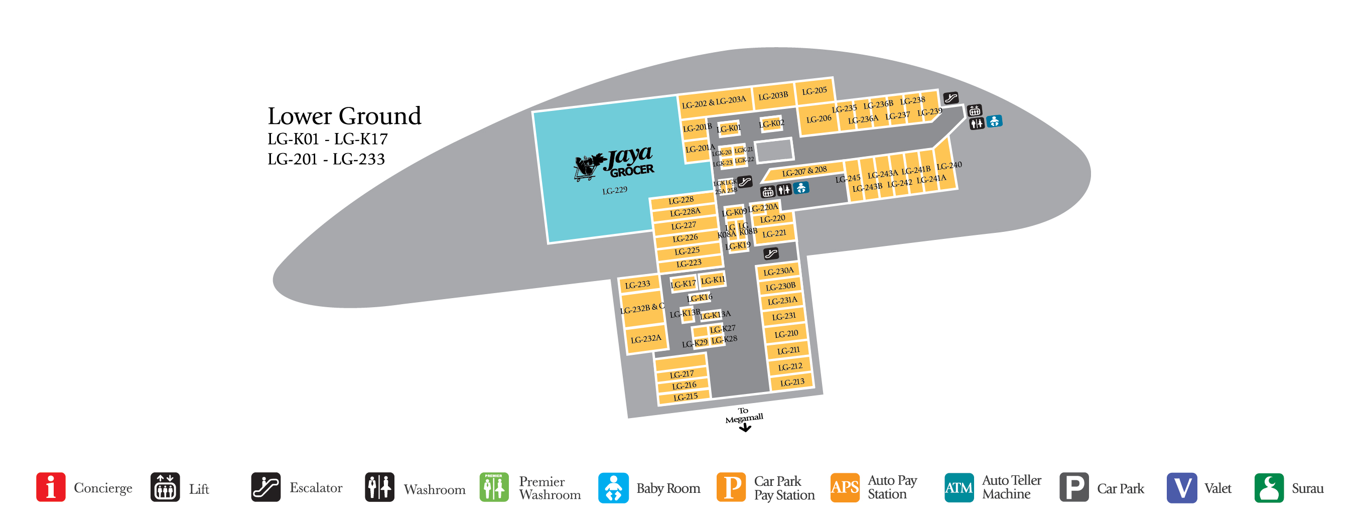 The Gardens Mall Floor Plan 4